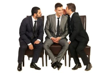 gossiping men