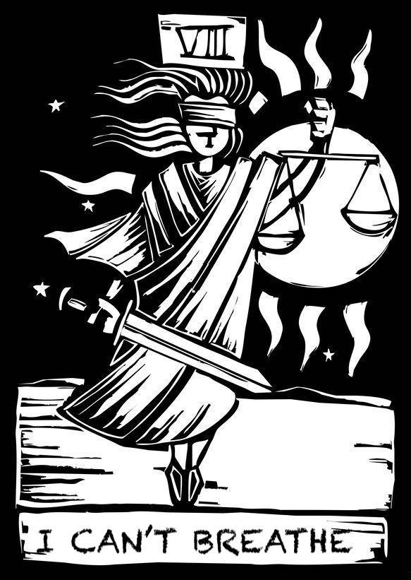 10901752 - tarot card major arcana image of justice